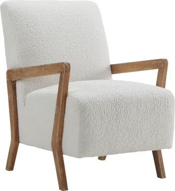 Baranco White Accent Chair
