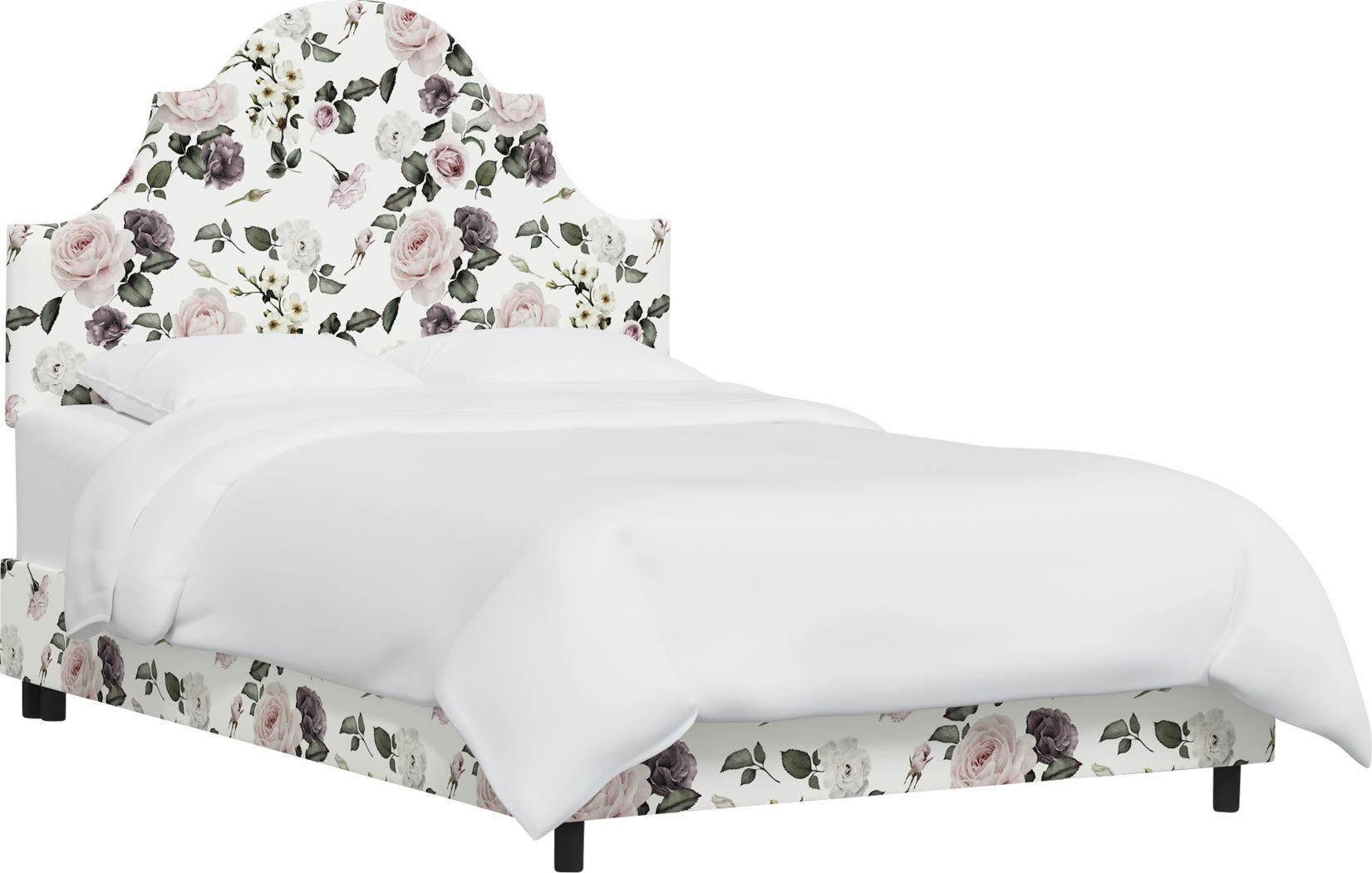Barn Chic Cream King Upholstered Bed