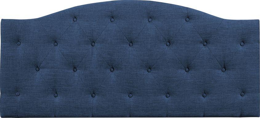 Barnsdale Blue King Upholstered Headboard