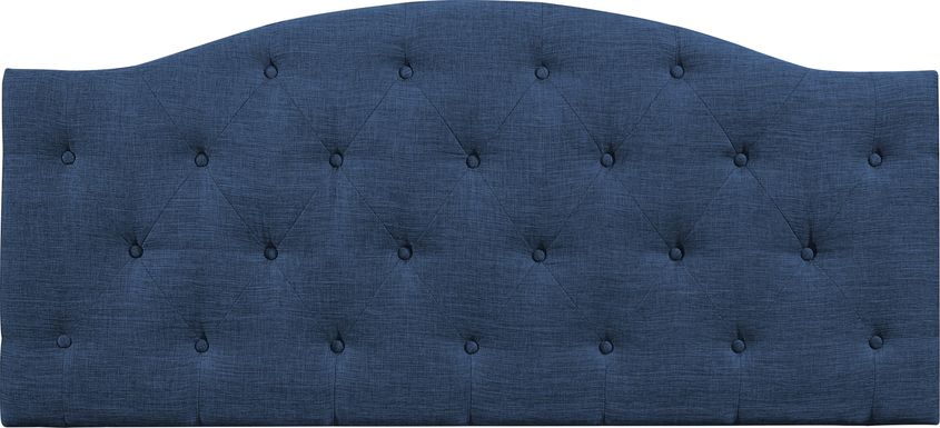Barnsdale Blue Twin Upholstered Headboard