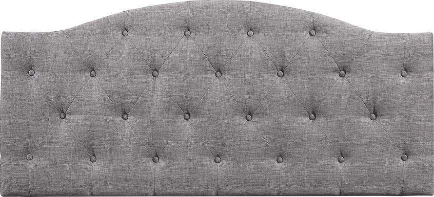 Barnsdale Gray King Upholstered Headboard
