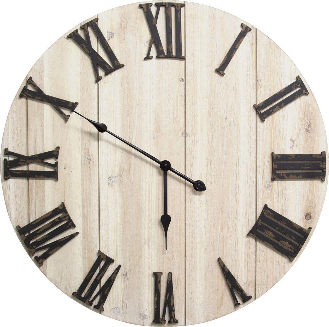 Barrick White Clock