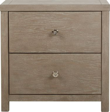 Barringer Place Gray Nightstand