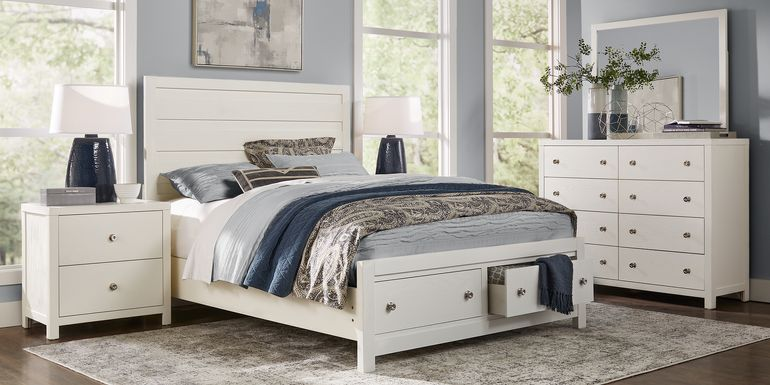 Barringer Place White 5 Pc Queen Panel Bedroom with Storage