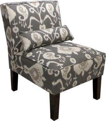 Barrington Row Pewter Armless Chair