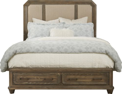 Barriston Trail Brown 3 Pc King Panel Bed with Storage