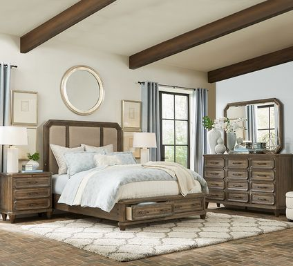 Barriston Trail Brown 7 Pc King Storage Bedroom