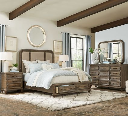 Barriston Trail Brown 7 Pc Queen Storage Bedroom