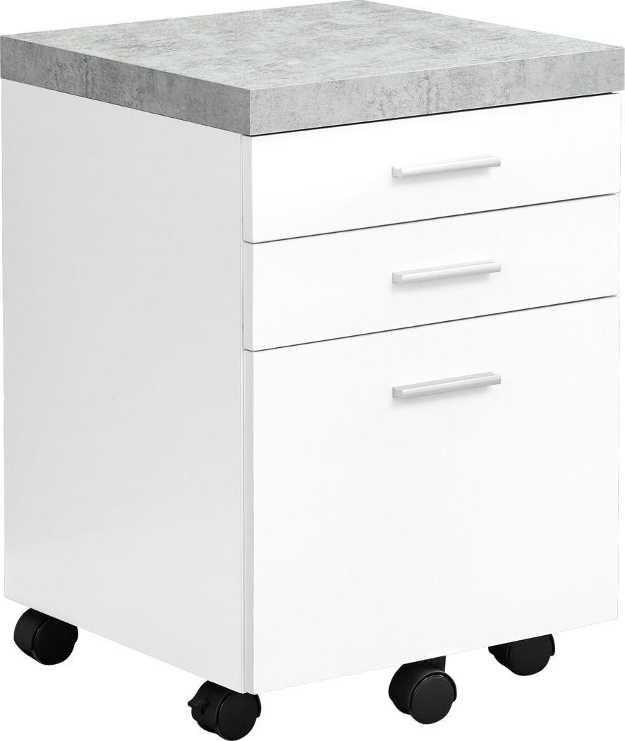 Barsana White File Cabinet