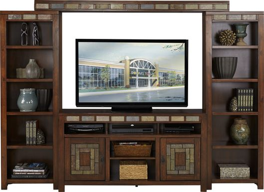 Bartlett II Cherry 4 Pc Wall Unit