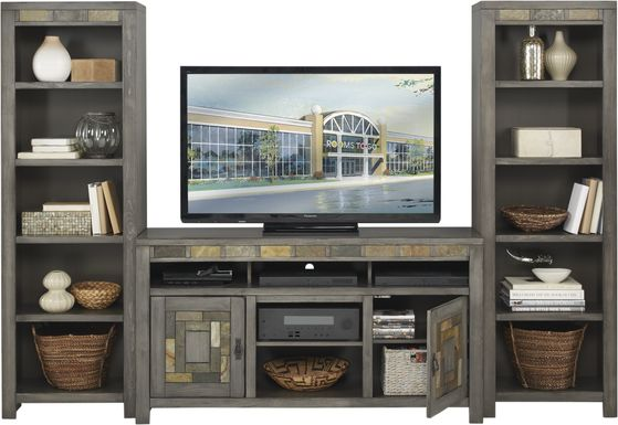 Bartlett II Gray 3 Pc Wall Unit