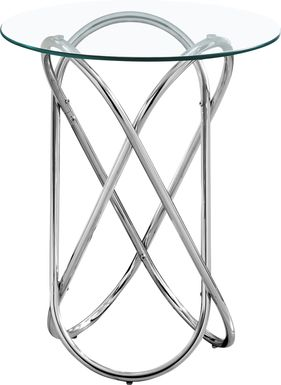 Baruch Chrome Accent Table