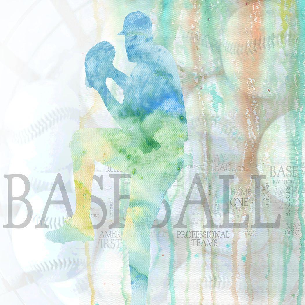 Baseball Fan Green Artwork