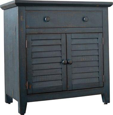 Basilwood Blue Accent Cabinet