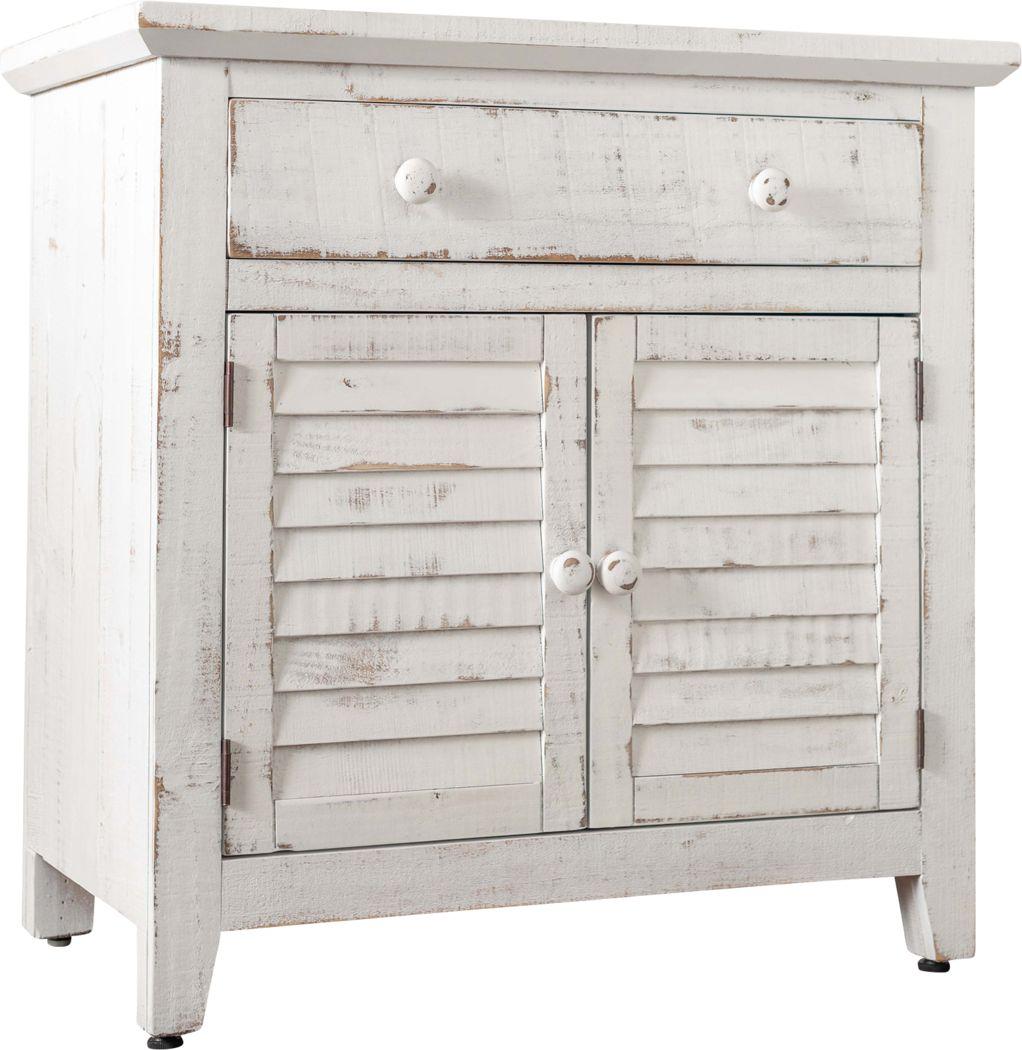 Basilwood White Accent Cabinet