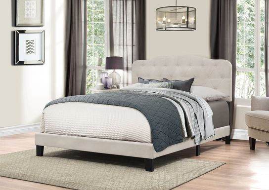 Basingfield Light Gray Queen Bed