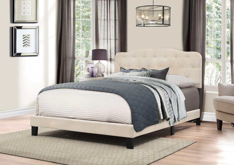 Basingfield Linen Queen Bed