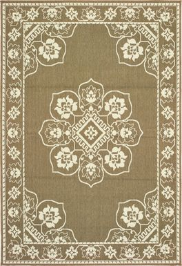 Bassbrook Tan 6'7 x 9'6 Indoor/Outdoor Rug