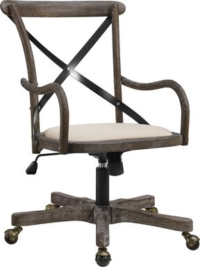 Basswood Gray Office Chair