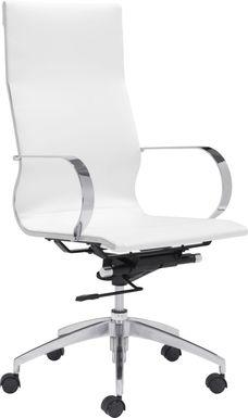 Battlecreek White Office Chair
