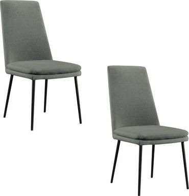Bauerlien Light Gray Dining Chair, Set of 2