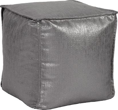 Bauman Dark Gray Pouf