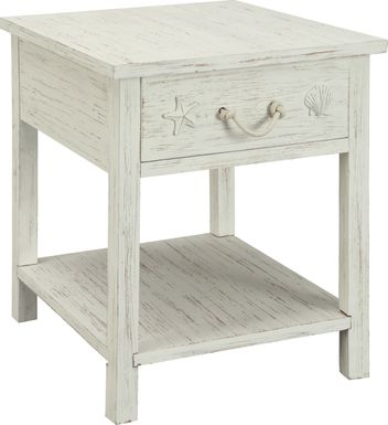 Bay Life White End Table