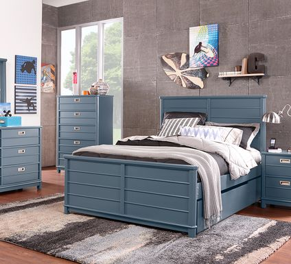 Kids Bay Street Blue 5 Pc Twin Panel Bedroom