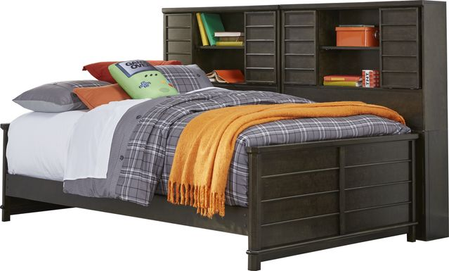 Bay Street Charcoal 5 Pc Full Bookcase Daybed