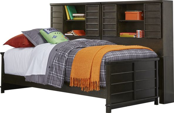 Bay Street Charcoal 5 Pc Twin Bookcase Daybed
