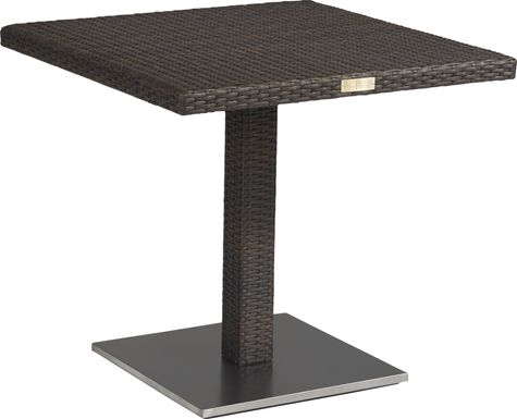 Bay Terrace Brown Wicker 31 in. Square Dining Table