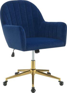 Baybliss Blue Office Chair