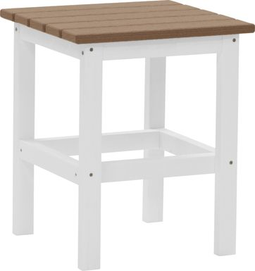Bayfield Park Natural White and Mocha Outdoor Side Table