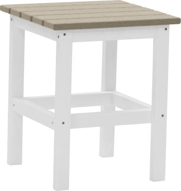 Bayfield Park Natural White and Pebble Outdoor Side Table