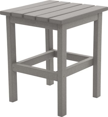 Bayfield Park Traditional Light Gray Outdoor Side Table