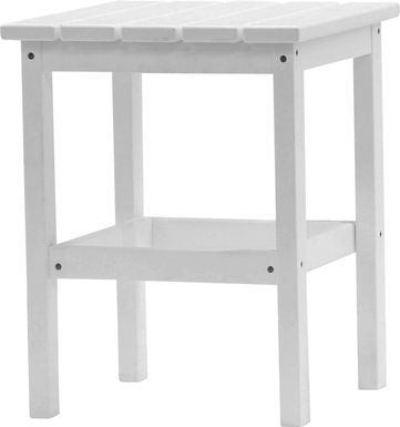 Bayfield Park Traditional White Outdoor Side Table