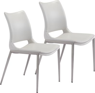 Beacher White Side Chair, Set of 2