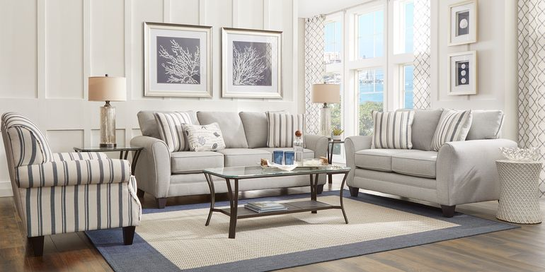 Beachfront Silver 2 Pc Living Room