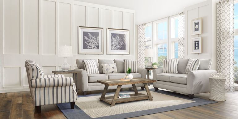 Beachfront Silver 5 Pc Living Room