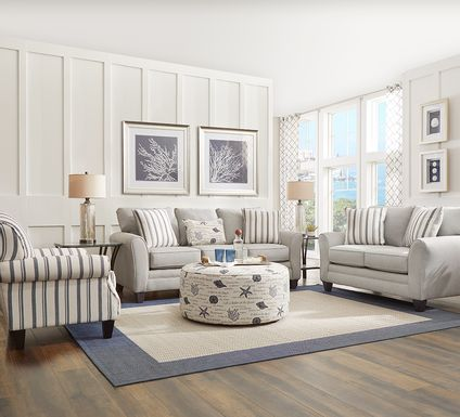 Beachfront Silver 5 Pc Living Room