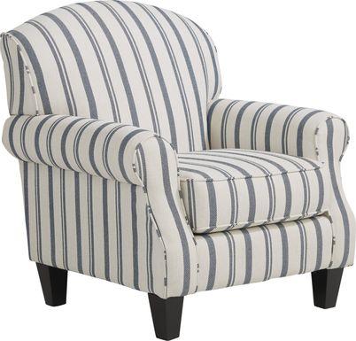 Beachfront Striped Accent Chair