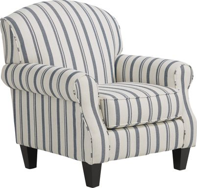 Beachfront Striped Accent Chair