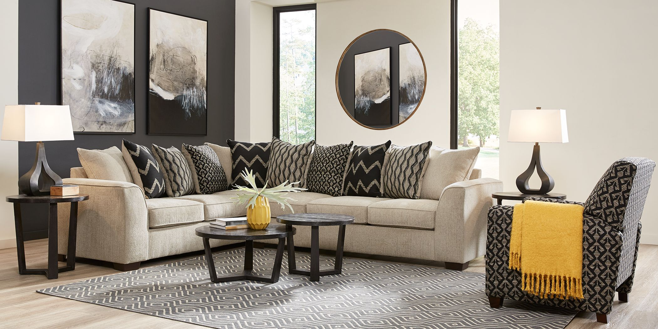 Beacon Ridge Beige 6 Pc Sectional Living Room