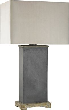 Beaureguard Gray Outdoor Table Lamp