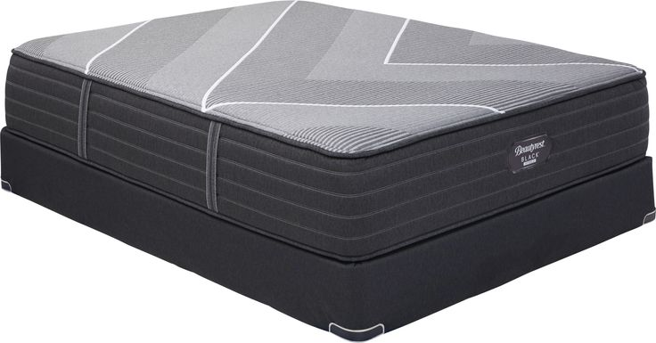 Beautyrest Black Hybrid X-Class Plush Low Profile Queen Mattress Set