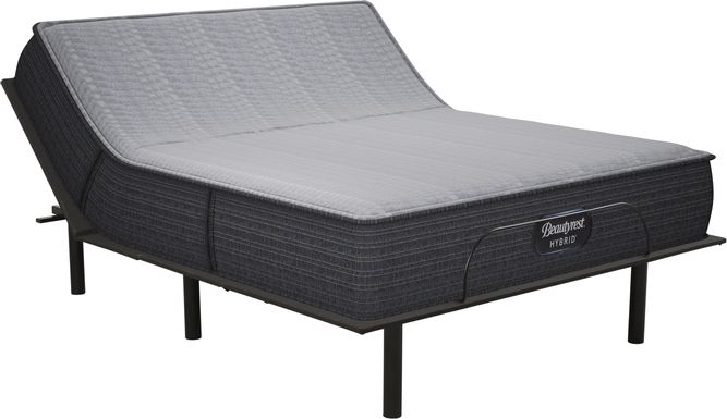 Beautyrest Hybrid Pacific Blue King Mattress with Reverie O200 Adjustable Base