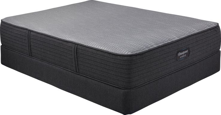 Beautyrest Hybrid Pacific Blue Low Profile King Mattress Set