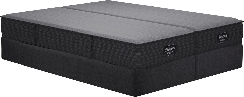 Beautyrest Hybrid Pacific Blue Low Profile Split King Mattress Set
