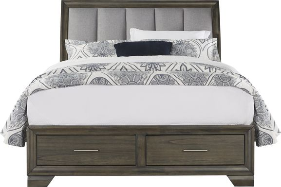 Beckwood Gray 3 Pc Queen Sleigh Bed with Storage