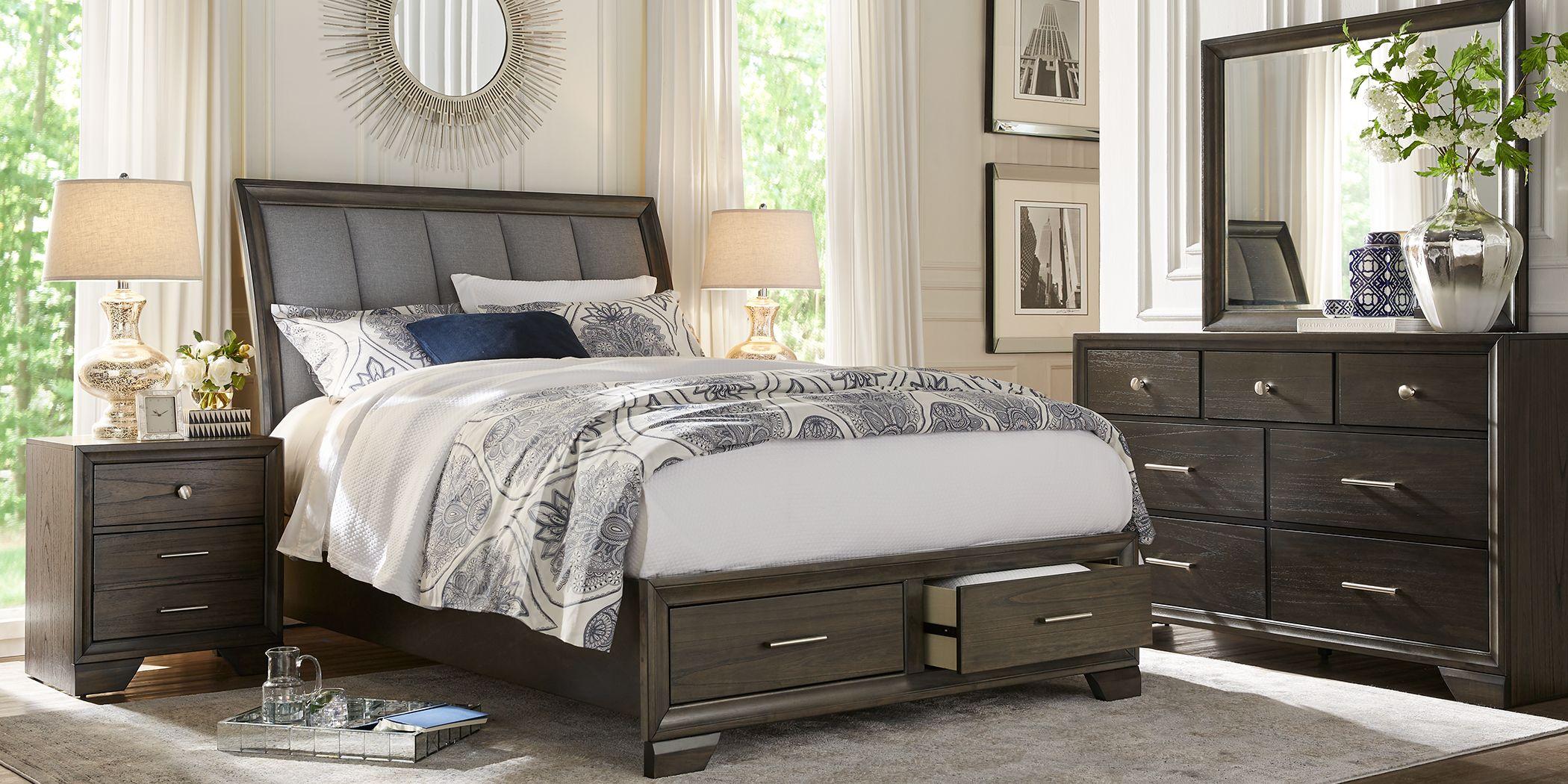 Beckwood Gray 5 Pc King Storage Bedroom